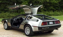 Delorean with its doors open